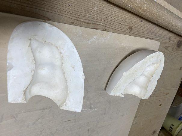 栗山窯 石膏型