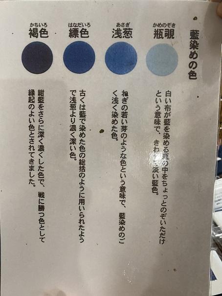 藍染めの色