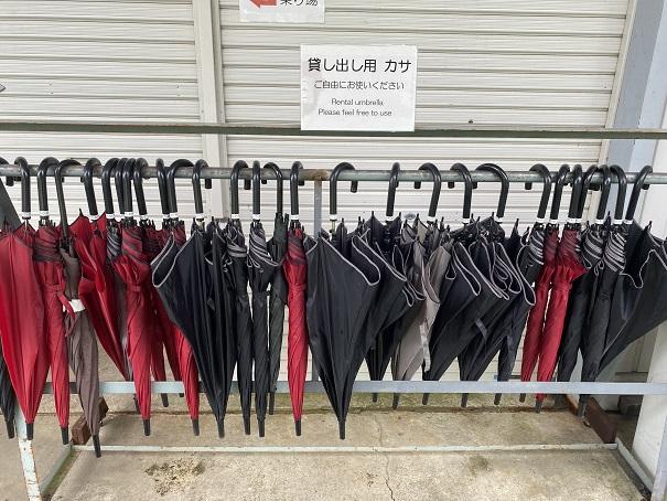 雲辺寺ロープウェイ 貸し傘