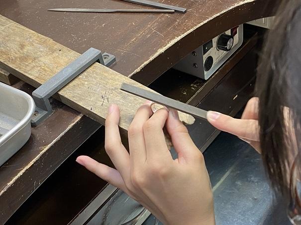 Dizzy459 シルバーリング作り 磨き1