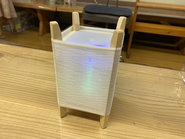 絹のランプシェード