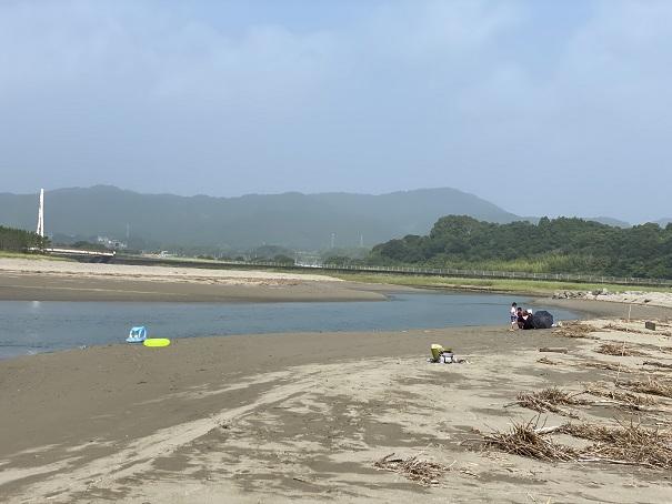 大方浮鞭サーフィンポイント川や水遊び