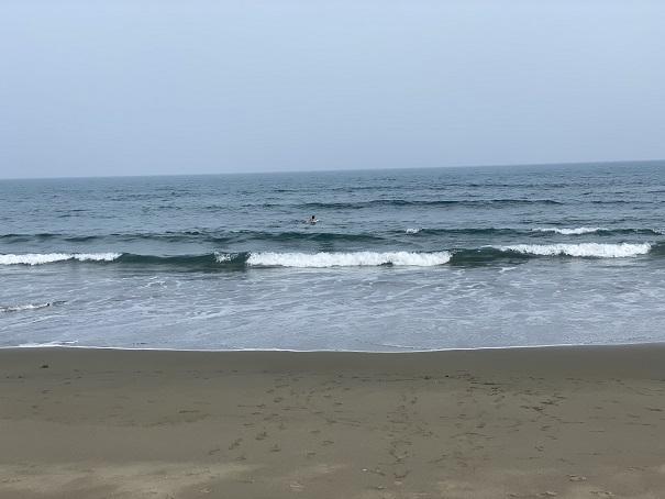 入野海岸の波