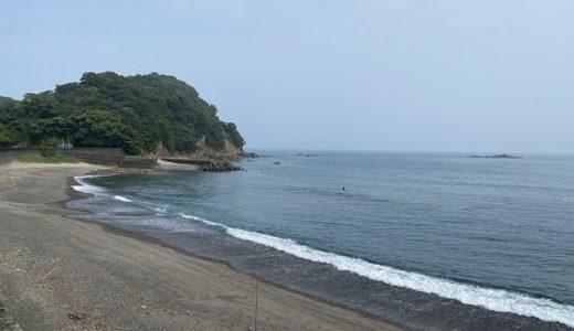 大野サーフビーチのサーフィンポイントと双名島 土佐町