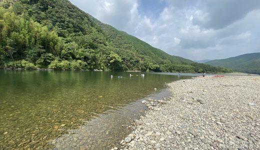 四万十カヌーとキャンプの里かわらっこ付近四万十川で川遊び 四万十市