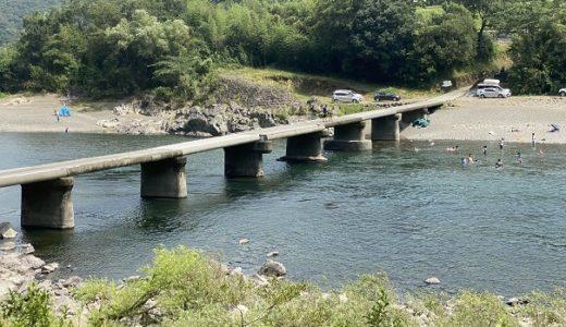 長生沈下橋からの飛び込み 四万十川で川遊び 四万十市