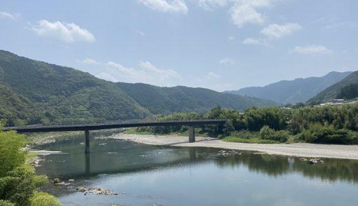 小野大橋の橋下 四万十川で川遊び 四万十町