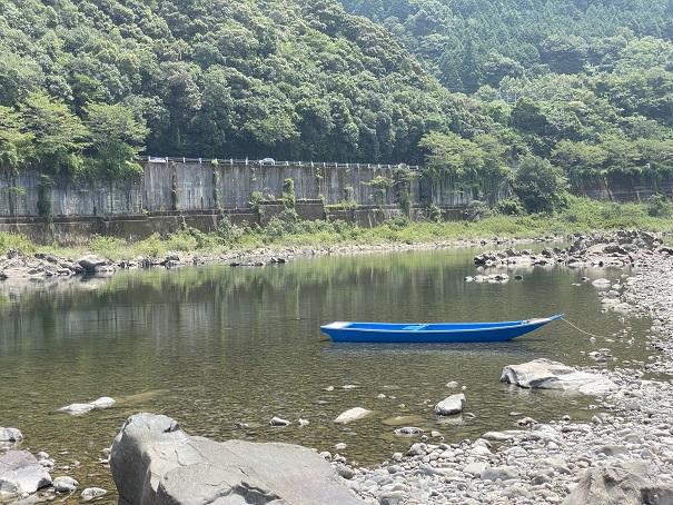小野大橋の橋下 四万十川カヌー