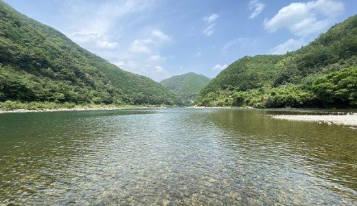 三島キャンプ場の四万十川で川遊び Natural grooveのラフティングもある 四万十町