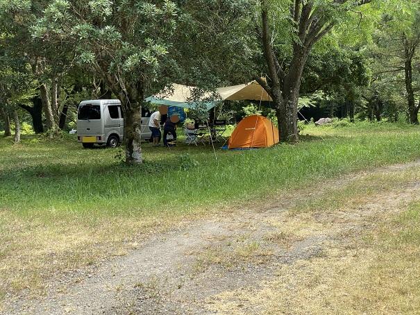 三島キャンプ場テントエリア