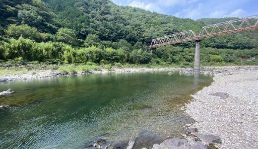 リバーパーク 轟付近の四万十川で川遊びと飛び込み 四万十町