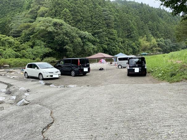新荘川 新土居キャンプ場駐車場