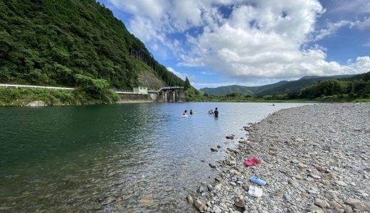 四万十川 三堰キャンプ場付近で川遊び 無料キャンプ 四万十町