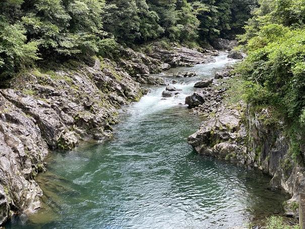 銅山川 吊り橋から奥