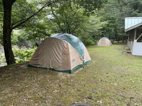 富郷キャンプ場 テントサイト