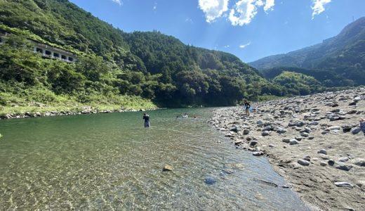 仁淀川 小浜キャンプ場付近で川遊び 無料のキャンプ場 越知町