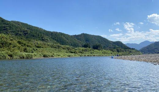 仁淀川の本村キャンプ場で川遊びとラフティング 越知町