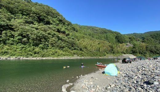 黒瀬公園と黒瀬キャンプ場 仁淀川で川遊びとラフティング 越知町