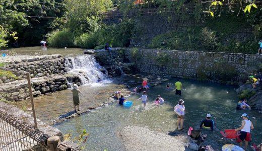 農村ふれあい公園 神山温泉横の上角谷川で川遊び ACN・コットンフィールドキャンプ場 神山町