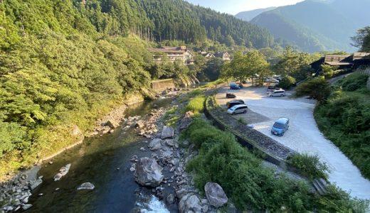 月ヶ谷温泉キャンプ場 勝浦川で川遊びと岩からの飛び込み 上勝町