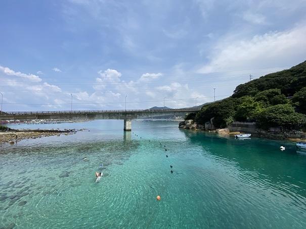 柏島ビーチで海水浴