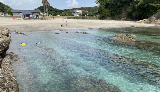 桜浜海水浴場 バナナボートやシュノーケリング等のアクティブな遊び 土佐清水市