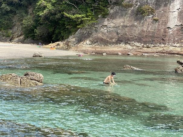 桜浜海水浴場シュノーケル