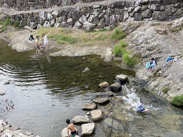 香東川 川遊び