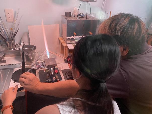 atelier fumufumu(アトリエフムフム)宇宙ガラス体験1