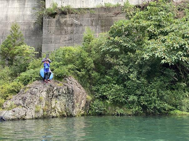 鮎喰川 飛び込み