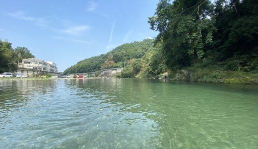 鮎喰川 高瀬の川原 川遊びや飛び込みとバーベキュー 神山町