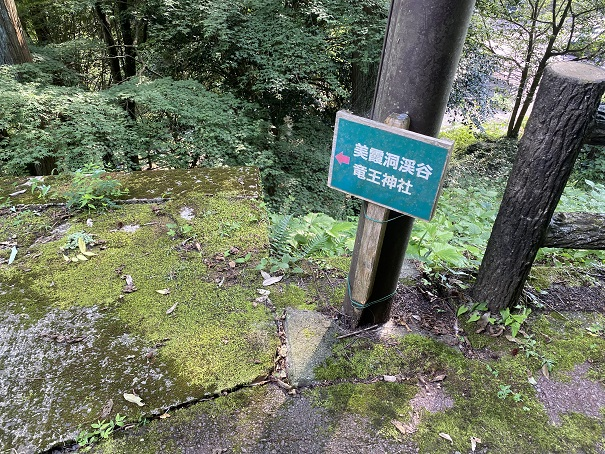 美霞洞渓谷 川へ降りる道