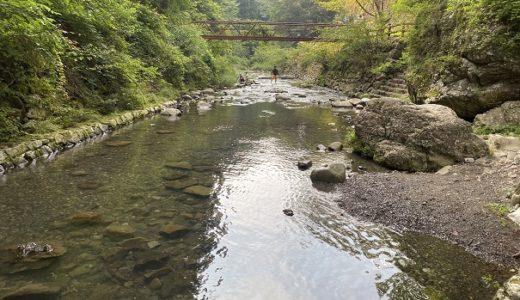 美霞洞渓谷明神川 土器川上流で川遊び 香川県まんのう町