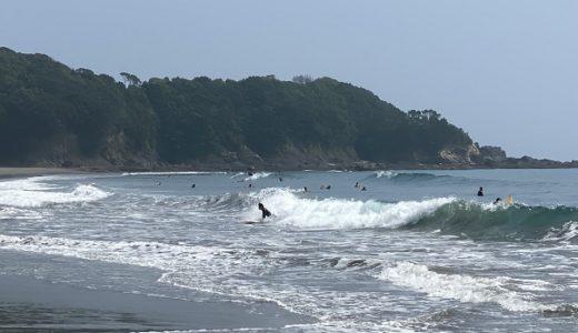 双海サーフビーチのサーフィンポイントでボディボード 四万十市