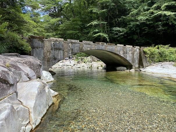 面河渓 五色橋