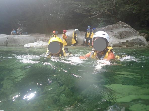 面河渓キャニオニング 入水