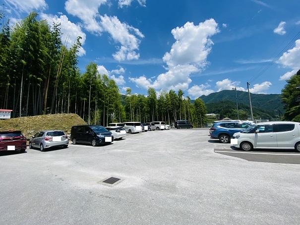 宮崎の河原キャンプ場駐車場