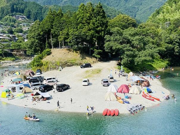 テントサイト宮崎の河原キャンプ場