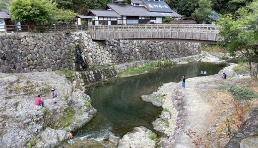香東川 塩江温泉行基の湯・道の駅しおのえ横で川遊びと飛び込み 高松市
