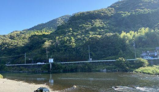 鏡川 宗安寺キャンプ場で川遊び アユが水面から飛び跳ねる川 高知市
