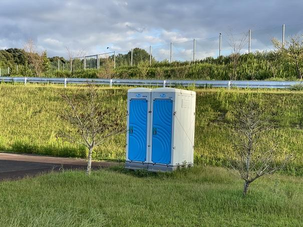 宝山湖簡易トイレ