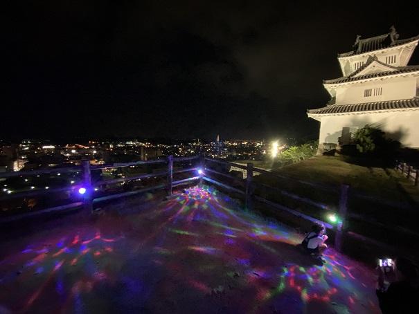 丸亀城キャッスルロード 夜景