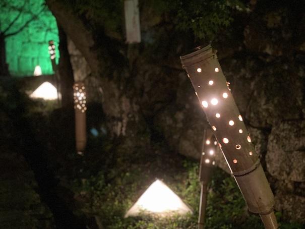 丸亀城キャッスルロード 山崎坂の明かり