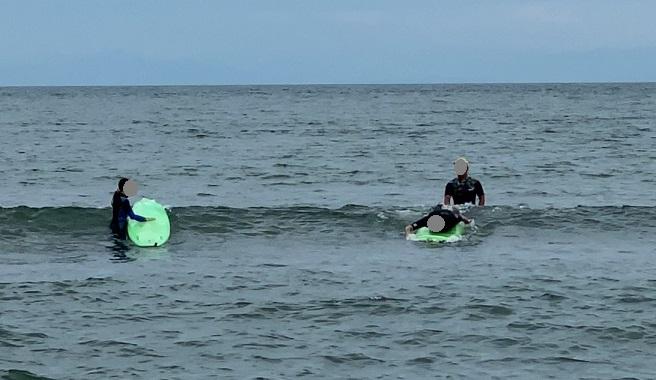 サーフィンスクール体験 基本動作実践1