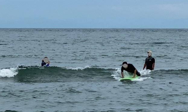 サーフィンスクール体験 基本動作実践2