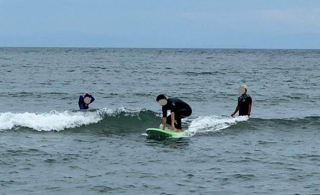 サーフィンスクール体験 基本動作実践3