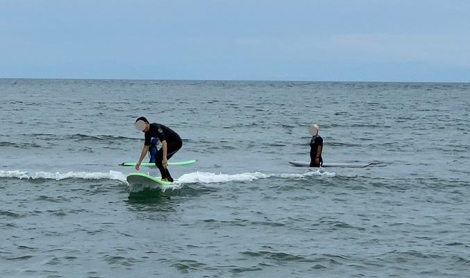 サーフィンスクール体験 基本動作実践4