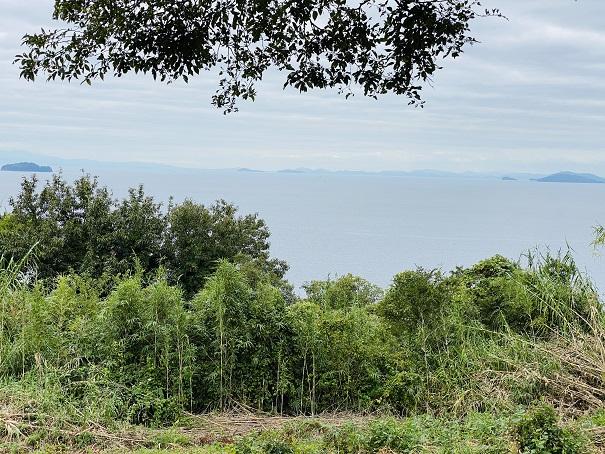 伊吹島 ハートのベンチからの景色