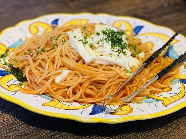 TRATTORIA Tino トラットリア ティノ トマトとモッツァレラチーズのスパゲッティ