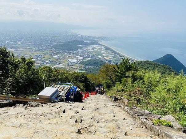 高屋神社 階段
